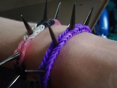 HowTo Make Spiked LoomBand Bracelet