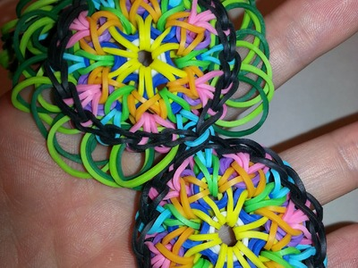 LARGE Kaleidoscope Bracelet Tutorial by feelinspiffy (Rainbow Loom)