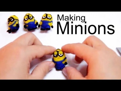 Making a play doh miniature clay minions tutorial