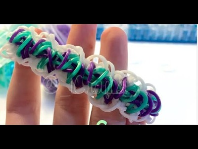 NEW Rainbow Loom Hang Ten Remix Bracelet | Rainbow Loom | Full Loom