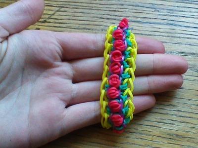 NEW Rainbow Loom Rose Pop Bracelet