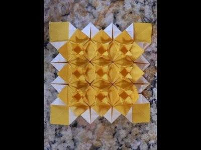Origami Instructions: Sandclover Tessellation (Martin Sejer Andersen) - Part Two