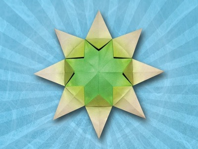 Origami Sunburst Star (Folding Instructions)