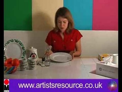 Paint on your Ceramic Dinner Plates- Ceramic Painting Project - Art and Craft