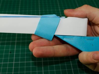 Paper Toy that Shoots 3 Rubber Bands - (Paper Shotgun)