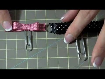 Paperclip Bows with Ribbon