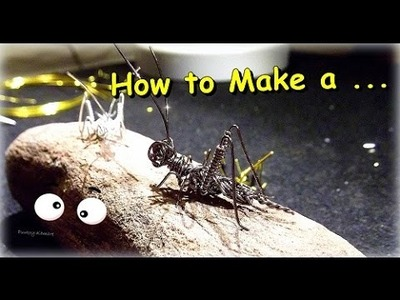 "((Parte 2))Como Hacer ""Grillo en Alambre"". How to Make a""Wire Cricket"" - By Puntoy Alambre"