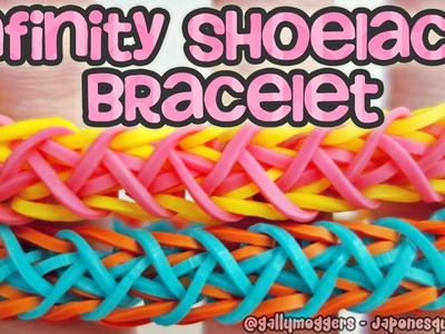 Rainbow Loom Infinity Shoelace Bracelet with One Loom