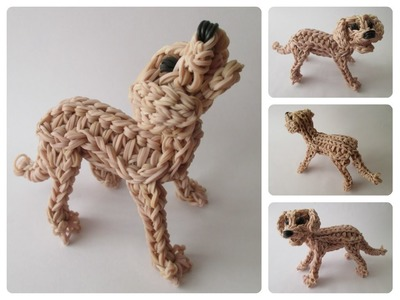 Rainbow Loom labrador - golden retriever - ZUMA puppy Part 1.2 Loombicious