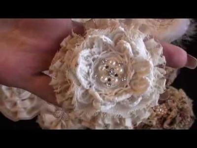 Shabby fabric flowers