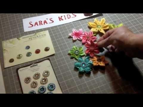 Silk Kanzashi Flower Tips