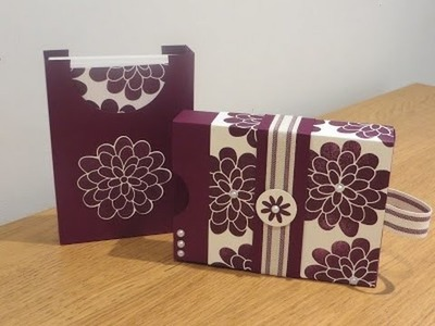Slide on Lid Box,  Notecard Gift Card Set with Flower Patch by Stampin' Up.