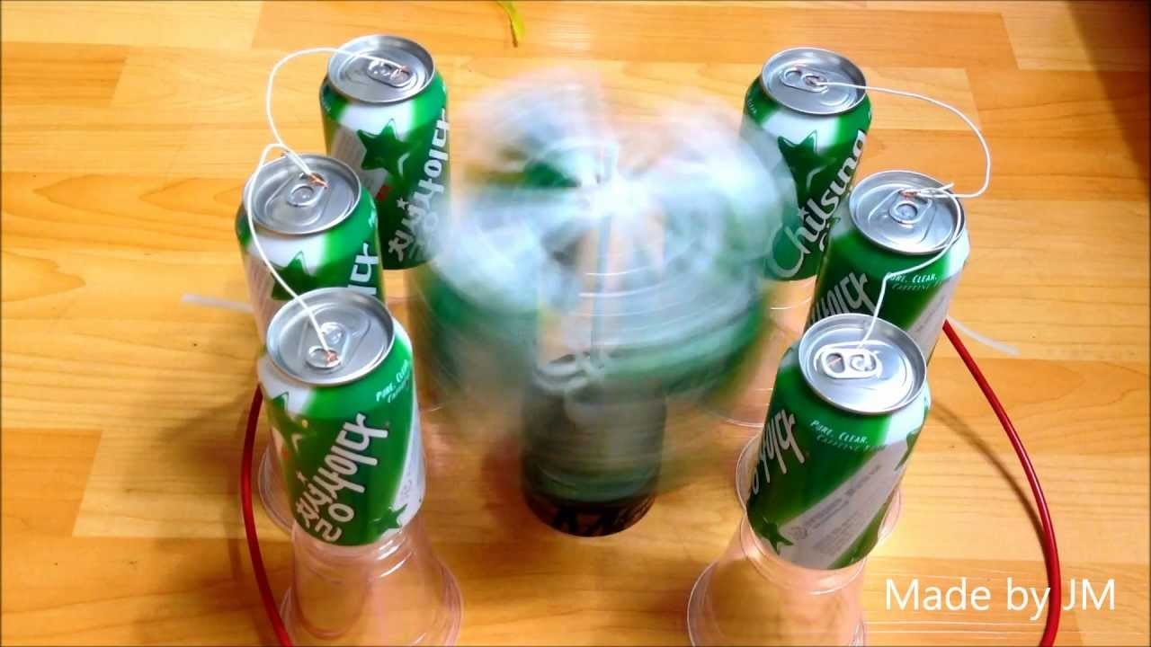 Soda Can Electrostatic motor