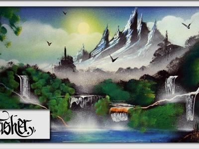 Spray Paint Art - Landscape by: TRASHER