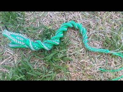 The BEST tutorial SNAKE in Lanyard.Scoubidou.Gimp.Boondoggle Part #2 (the bottom head)
