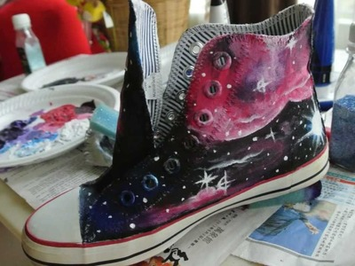 Tutorial Drawing Galaxy Canvas Shoes