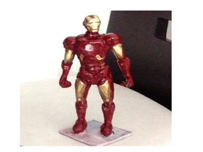 Tutorial IRON MAN (platilina,porcelana fria, Clay)