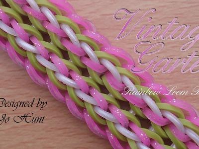 Vintage Garter Rainbow Loom Bracelet - hook only