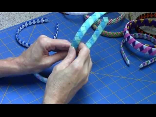 Woven Ribbon Headband Tutorial