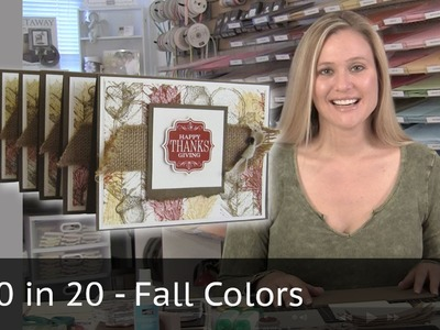 10 cards in 20 Minutes - Fall. Autumn Colors
