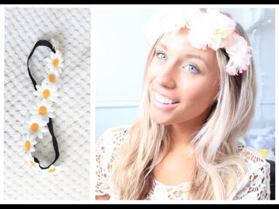 Barely There Makeup & DIY Floral Headbands
