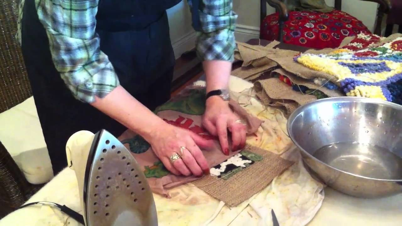 Binding a Hooked Rug with Deanne Fitzpatrick.MOV