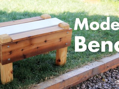 Building a Modern Style Bench