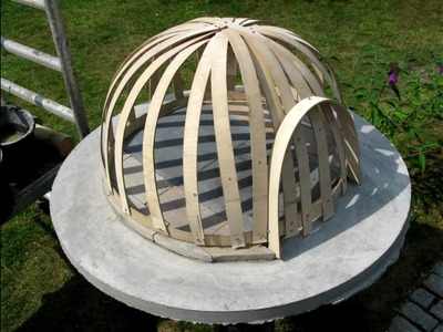 Building a wooden fired pizza oven, light construction. Lav din egen brændefyret pizzaovn DIY