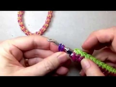 Capricorn bracelet tutorial (hook only) rainbow loom bands