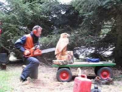 Chainsaw Carving 3 - Eagle