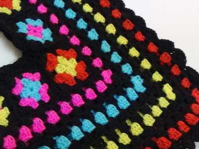 CROCHET COLORFUL PONCHO-1