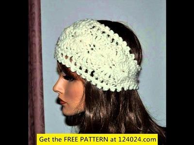 Crochet headband ear warmer pattern