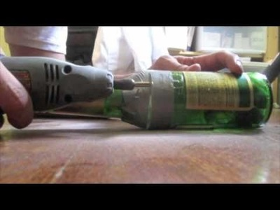 Cut a beer bottle with dremel tool