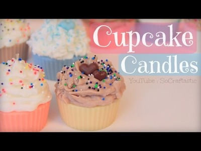 DIY Cupcake Candle. Candle Making How To