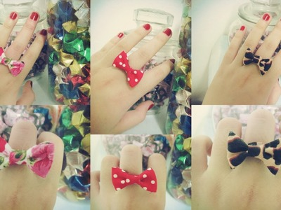 DIY: Fabric bow rings