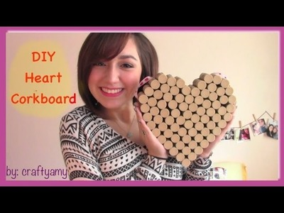 DIY Heart Cork Board (using wine corks)
