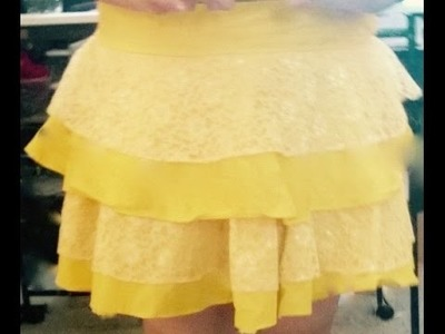 DIY How to make a cute ruffle skirt