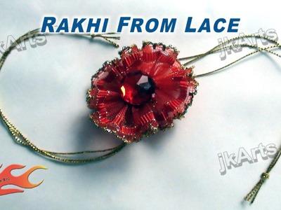 DIY How to make Rakhi from lace - JK Arts 293