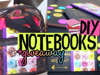 DIY Notebook Covers for Back to School! Easy & Affordable Ideas! +GIVEAWAY & MEETUP