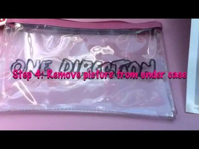 DIY One direction pencil case