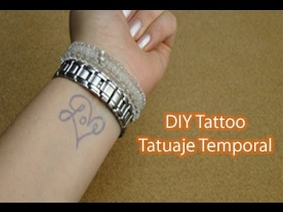 DIY tatuajes temporales personalizados ♥ DIY Custom Temporary Tattoo