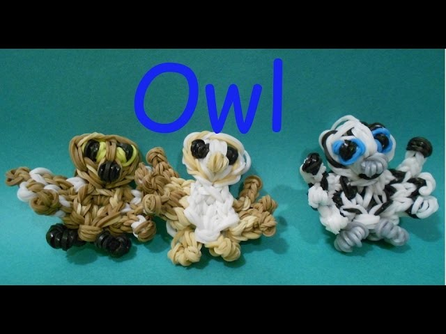 EASY Owl Bird - Rainbow Loom Charms