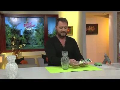 Florero decorado con Hot Melt y Sellador Pintable -Martín Muñoz-