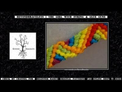► Friendship Bracelet Tutorial - Beginner - Rainbow Ribbon