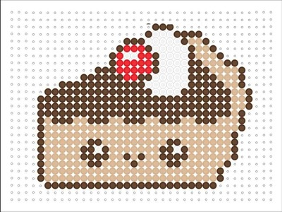 Hama Bead Kawaii Chocolate Pie (Kawaii Series 2 #8)