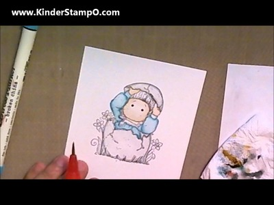 How to: Color Magnolia Tilda Stamp using Tim Holtz Distress Markers