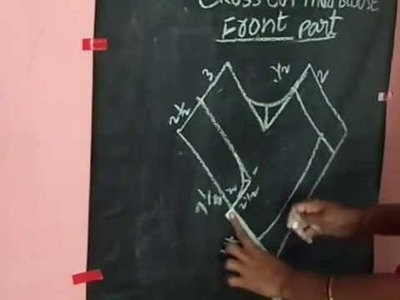 How to Cross Cutting Blouse For Beginers Telugu