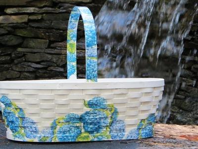 How to Decoupage a Hydrangea Basket Beginners Series!