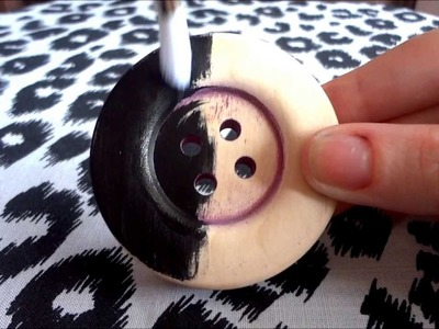 HOW TO DIY ALTERNATIVE BUTTON HAIR CLIP