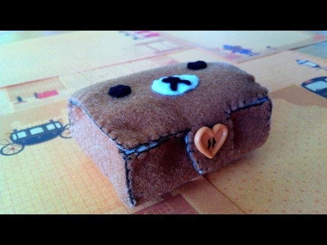 How to Make a Cute 'Rilakkuma Bento Box' from Felt